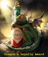 doncharisma-baby-dragon-tabasco-loyalty-award
