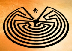 The Man in the Maze symbol.